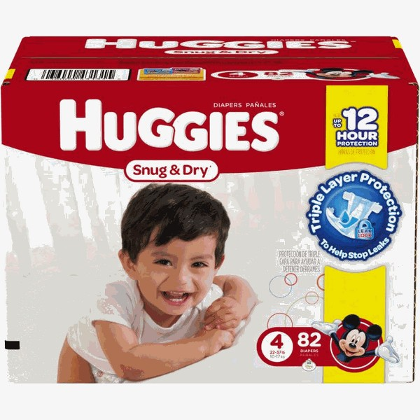 Huggies Diapers 52ct or Larger product image