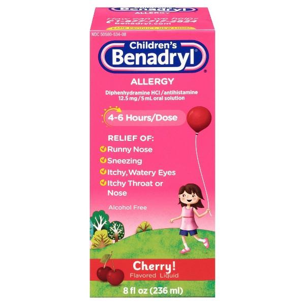 Children's Zyrtec & Benadryl product image