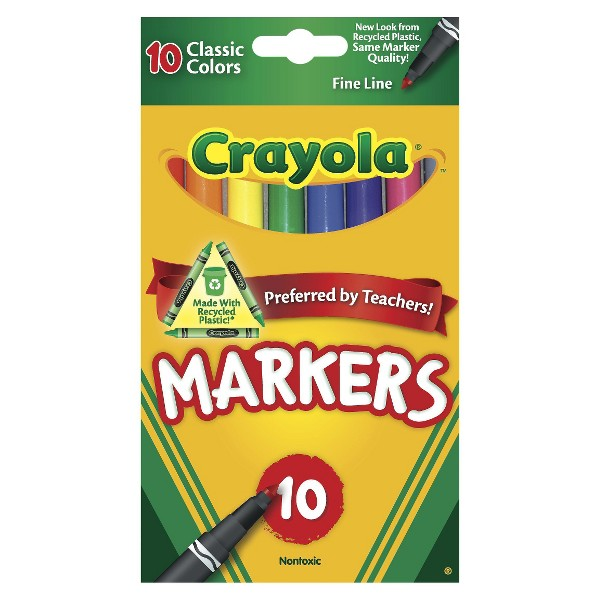 Crayola 10ct Fineline Markers product image
