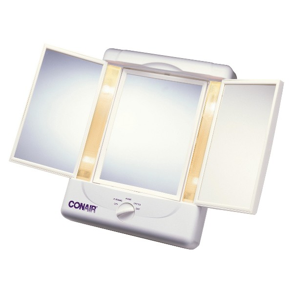 Conair 3 Panel Lighted Mirror product image