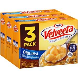Velveeta 3pk Shells & Cheese