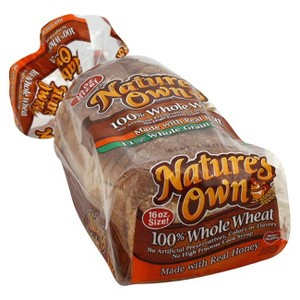Natures Own 100% Wheat Bread